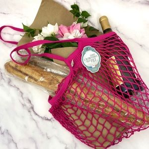 AUTHENTIC Pink French Filt Market Bag
